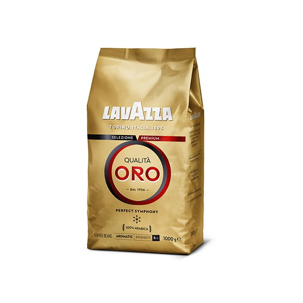 Lavazza Qualita Oro 1 kg. hele kaffebønner