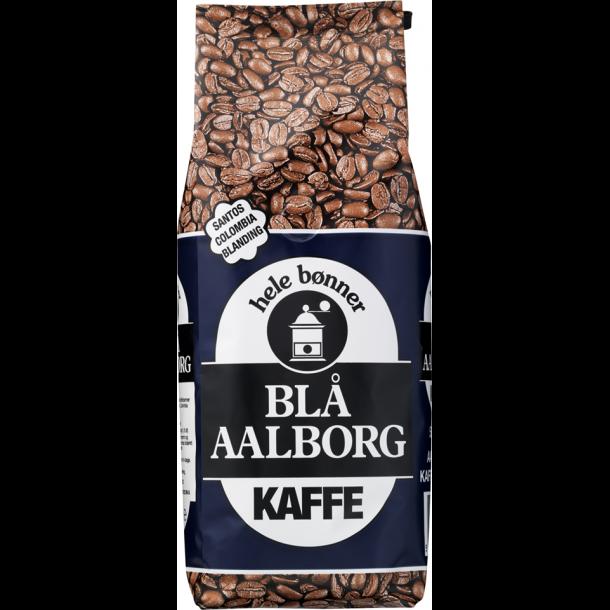 Blå Aalborg Kaffe - 500 g. hele bønner