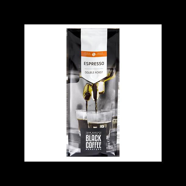 Black Coffee Roasters Espresso Double Roast 400g. hele bønner
