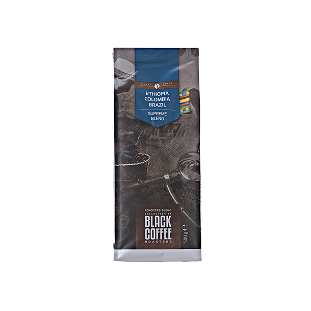 Black Coffee Roasters Supreme blend 500g. hele kaffebønner