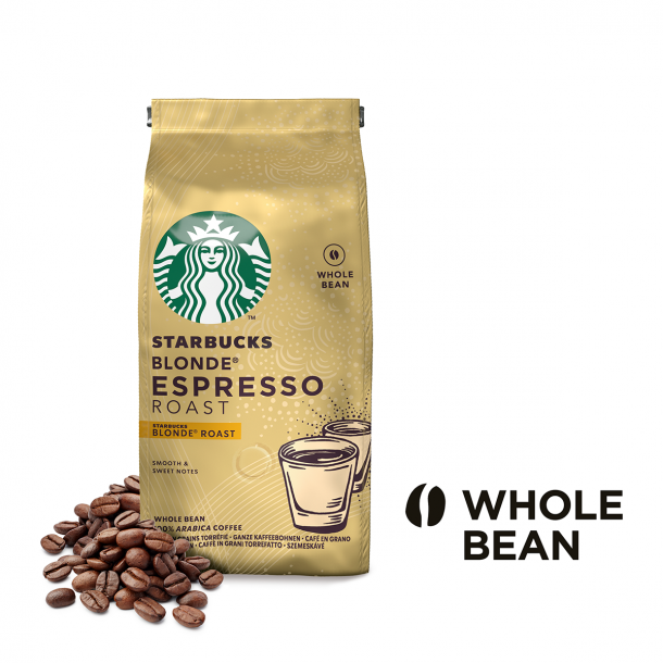 STARBUCKS® BLONDE Espresso Roast, lysristede hele kaffebønner 200 g