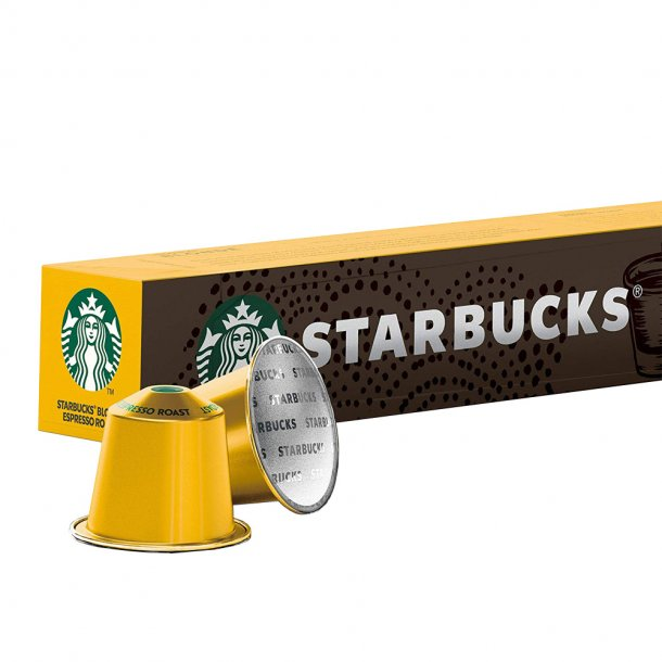 STARBUCKS® BLONDE Espresso Roast, rør med 10 kaffekapsler