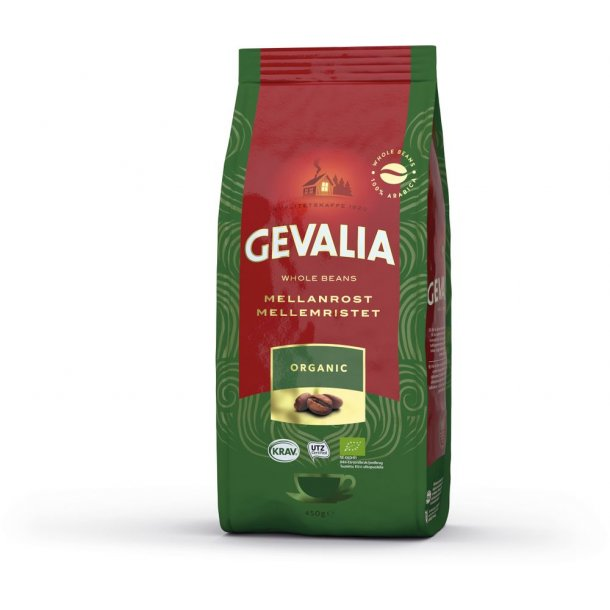 Gevalia Organic 450 gr. hele kaffebønner