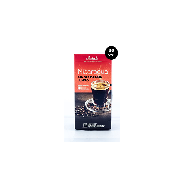 MEGA pakke 20 stk Single Origin Nicaraqua Lungo Coffeeroots