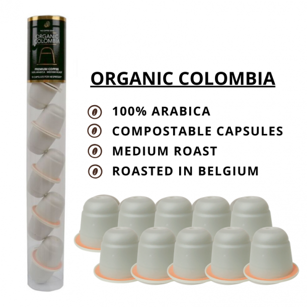 Økologisk Colombia - 10 stk. komposterbare kapsler - The Coffee Souq