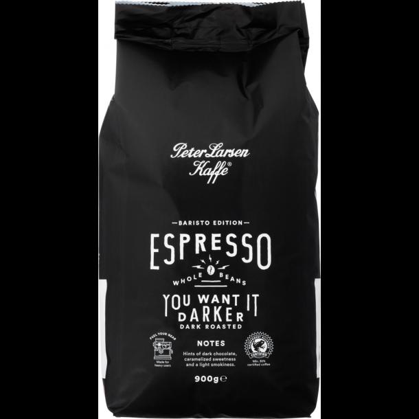 Peter Larsen Baristo Edition - Espresso 900g. Hele bønner