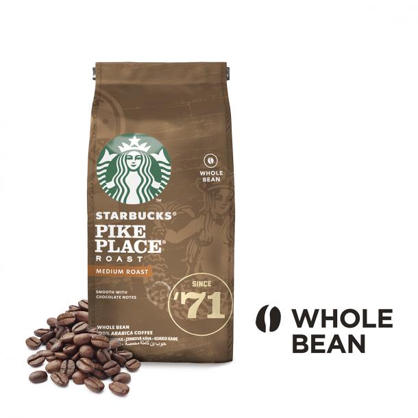 STARBUCKS® PIKE PLACE Roast, mellemristede hele kaffebønner, 200 g