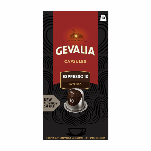 Gevalia Espresso 10 ALU kapsel til nespresso®