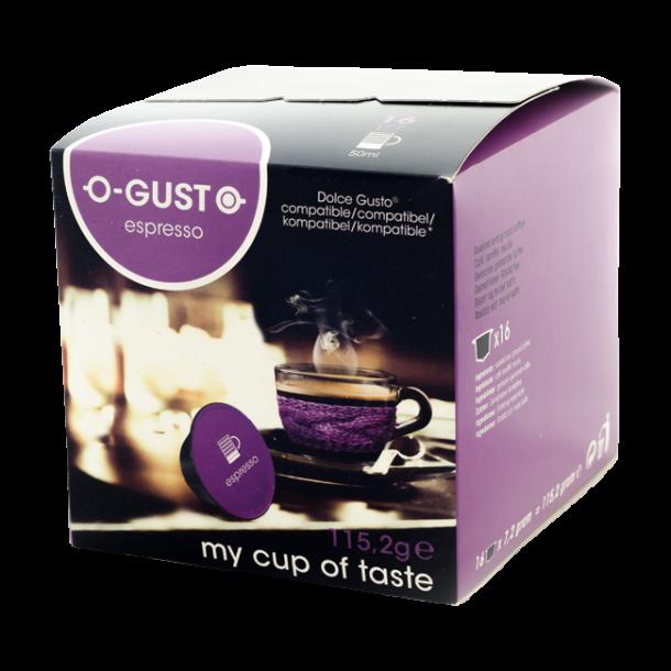 Espresso - O-GUST kompatible kapsler til Dolce Gusto®