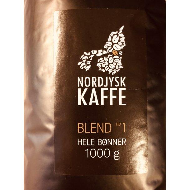 Nordjysk Kaffe Blend No1 hele bønner 1000 gr