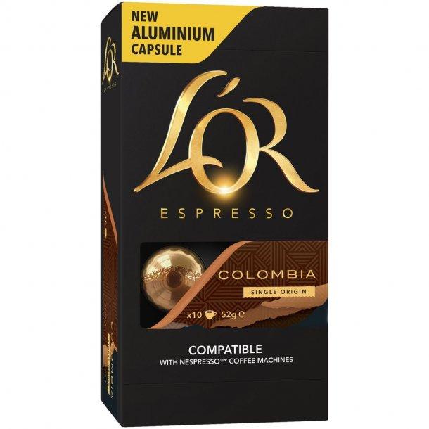 L'OR Columbia - 10 kapsler til Nespresso®