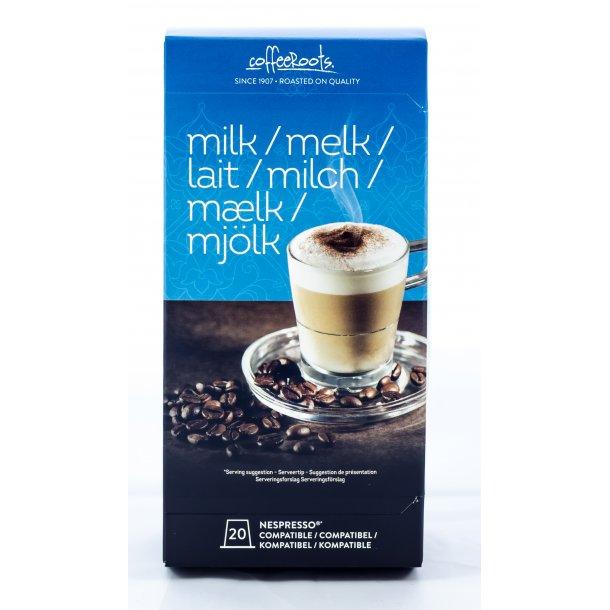 20 stk. mælkekapsler til Nespresso®