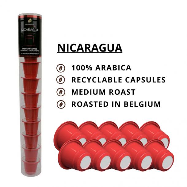 Nicaragua - The Coffee Souq 10 kompatible kapsler til Nespresso®