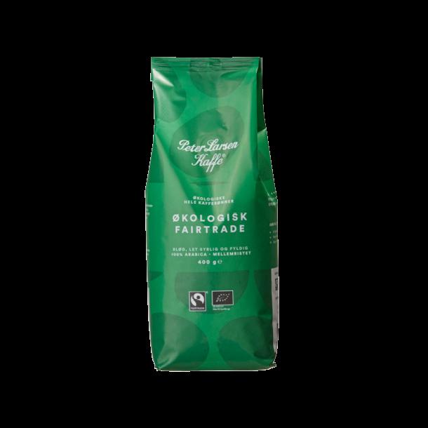 Peter Larsen kaffe økologisk fairtrade 400g. hele kaffebønner