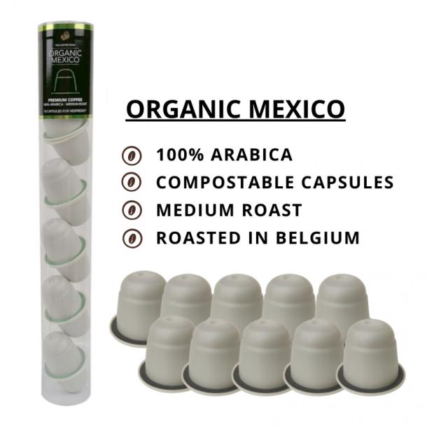 Økologisk Mexico - 10 stk. komposterbare kapsler - The Coffee Souq